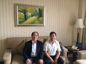 中国建設造価管理協会 呉佐民氏(右)