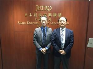 JETRO上海代表処 小栗氏(左)